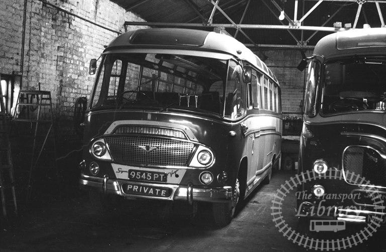 Saltburn Motor Services Bedford SB5 45 9545PT at Saltburn Area in 1969 on route Unknown - Neville Stead Collection