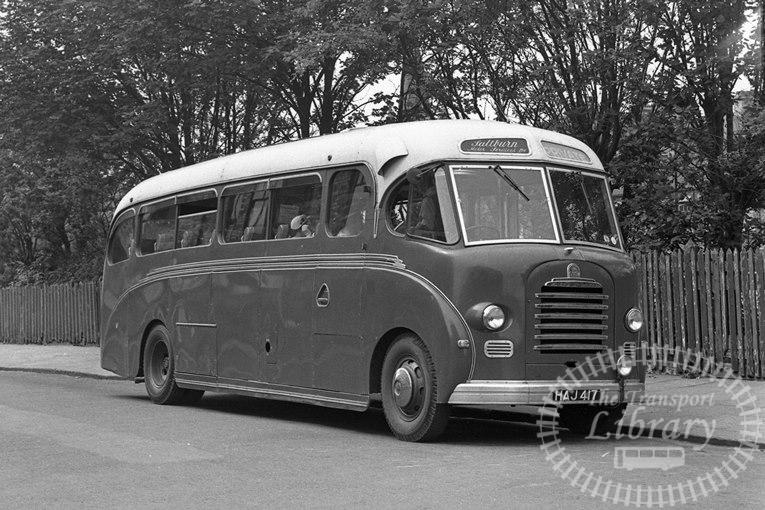 Saltburn Motor Services Bedford SB 18 HAJ417 at Saltburn ,Station  in 1969 on route Unknown - Neville Stead Collection