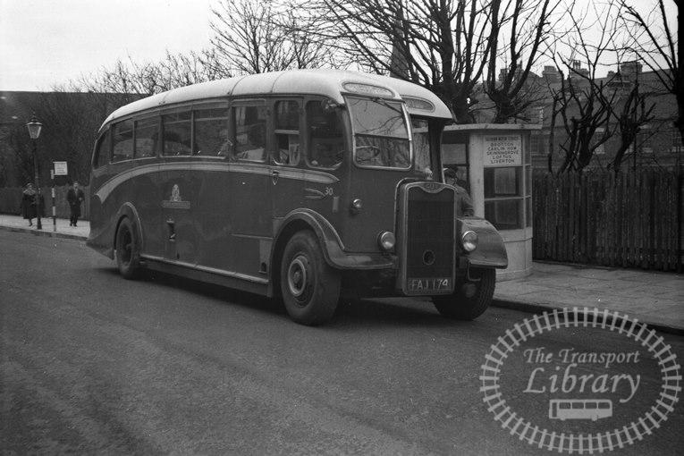 Saltburn Motor Services Guy Arab III 30 FA1174 at Saltburn Area in 1960s on route Unknown - Neville Stead Collection