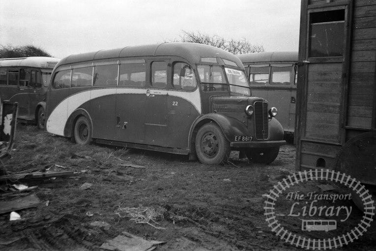 Saltburn Motor Services Commer Commando 22 EF 8617 at Saltburn Area in 1960s on route Unknown - Neville Stead Collection
