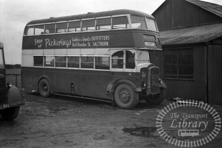 Saltburn Motor Services Bristol K5G 31 FLJ533 at Saltburn Area in 1960s on route Unknown - Neville Stead Collection
