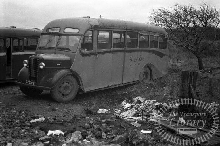 Saltburn Motor Services Commer Commando EPY322 at Saltburn Area in 1960s on route Unknown - Neville Stead Collection
