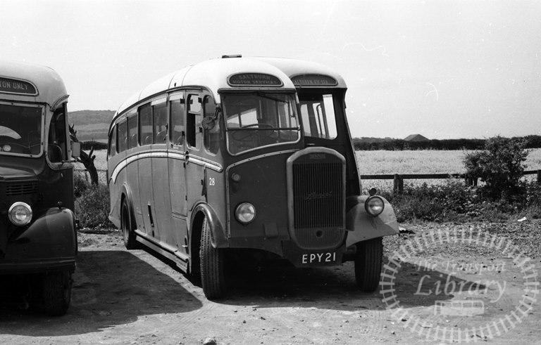 Saltburn Motor Services Dennis Lancet J3 28 EPY21 at Saltburn Area in 1970 on route Unknown - Neville Stead Collection