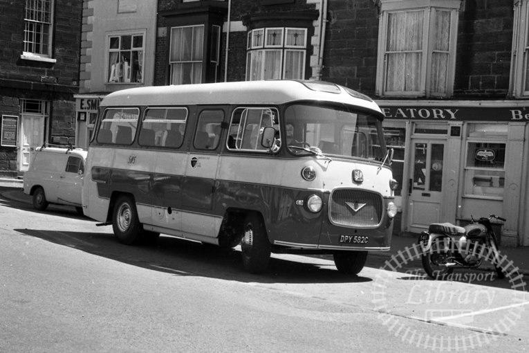 Saltburn Motor Services Bedford J2SZ10 40 DPY582C at Saltburn Area in 1960s on route Unknown - Neville Stead Collection