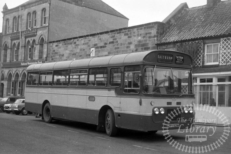Saltburn Motor Services Bedford VAM70 60 TPY925H at Saltburn Area in 1972 on route Unknown - Neville Stead Collection