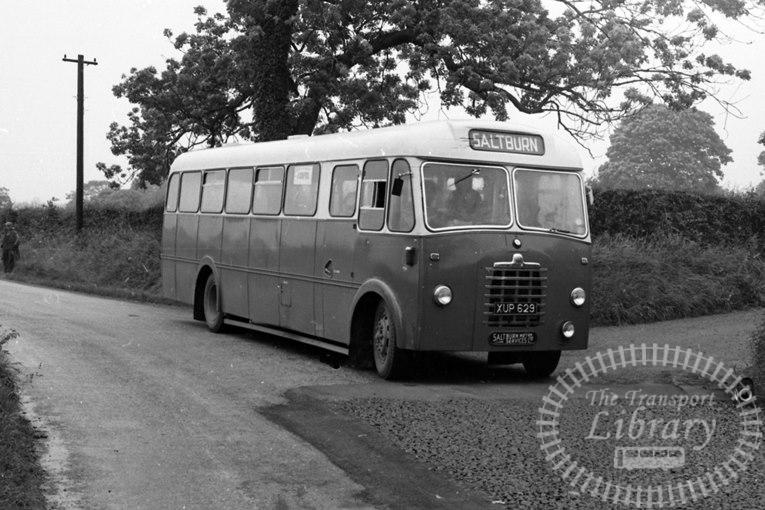 Saltburn Motor Services Bedford SB8 39 XUP629 at Saltburn Area in 1960s on route Unknown - Neville Stead Collection