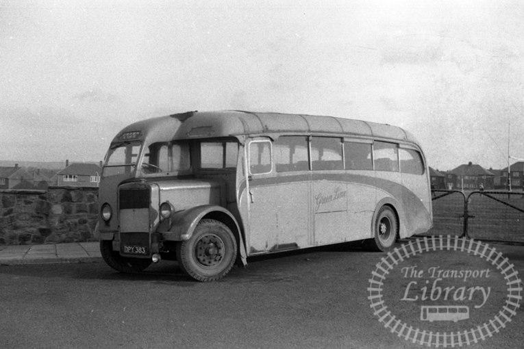 Saltburn Motor Services Leyland PS1 26 DPY383 at Saltburn Area in 1969 on route Unknown - Neville Stead Collection