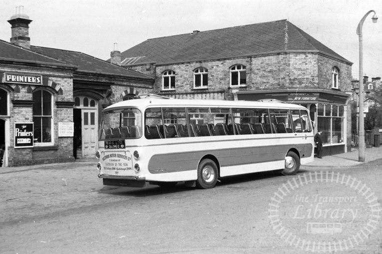 Saltburn Motor Services Bedford VAM5 50 GAJ945D at Saltburn ,Station  in 1966 on route Unknown - Neville Stead Collection