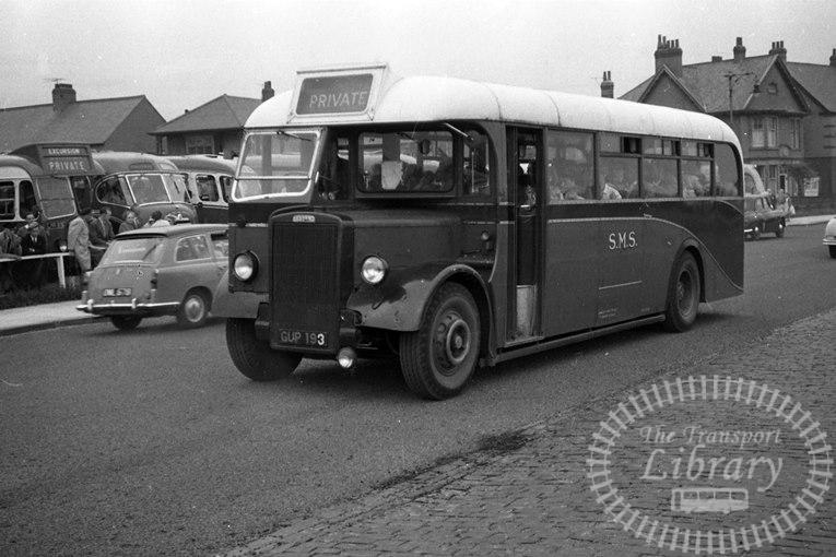 Saltburn Motor Services Leyland Single Decker GUP193 at Saltburn Area in 1970 on route Unknown - Neville Stead Collection