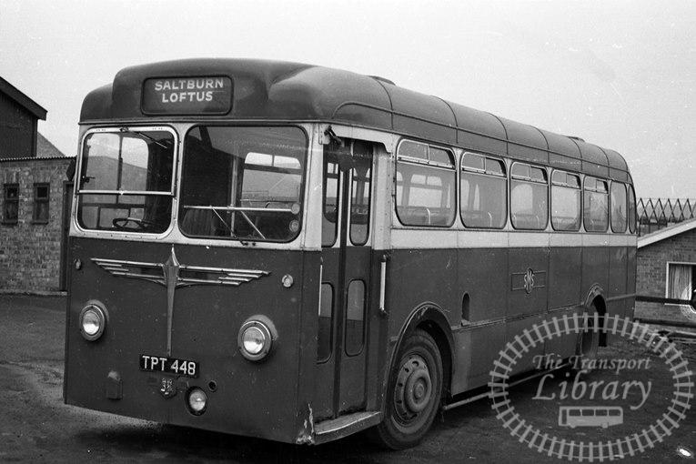 Saltburn Motor Services Leyland Tiger Cub 48 TPT448 at Saltburn Area in 1970 on route Unknown - Neville Stead Collection