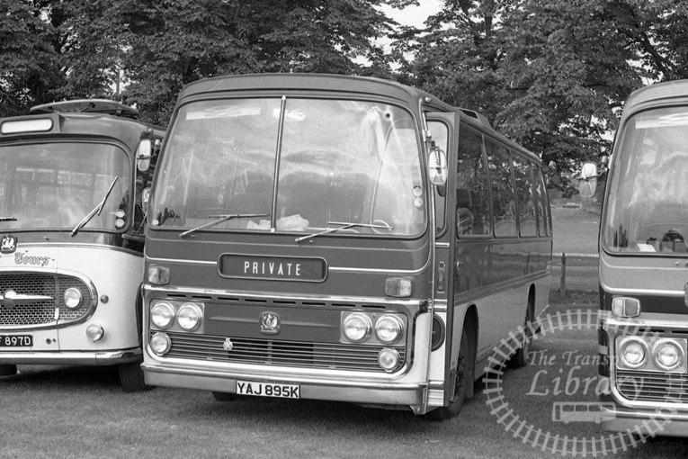 Saltburn Motor Services Bedford YRQ YAJ895K at Saltburn Area in 1960s on route Unknown - Neville Stead Collection
