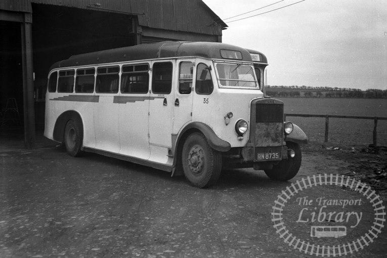 Saltburn Motor Services Leyland TS8 35 RN8735 at Saltburn Area in 1960s on route Unknown - Neville Stead Collection