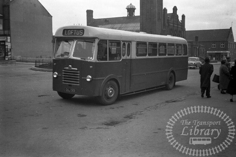 Saltburn Motor Services Bedford Single Decker GAJ901 at Saltburn Area in 1960s on route Unknown - Neville Stead Collection