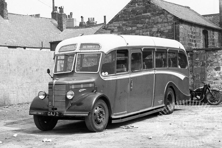 Saltburn Motor Services Bedford OB 14 GAJ2 at Saltburn Area in 1955 on route Unknown - Neville Stead Collection