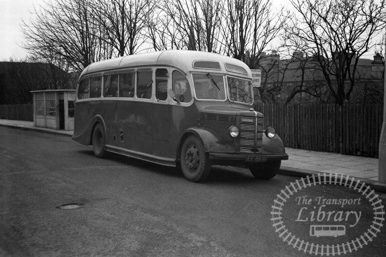Saltburn Motor Services Bedford OB 15 EF8616 at Saltburn Area in 1965 on route Unknown - Neville Stead Collection