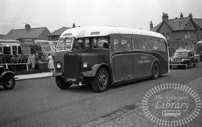 Saltburn Motor Services Leyland Single Decker GUP667 at Saltburn Area in 1970 on route Unknown - Neville Stead Collection