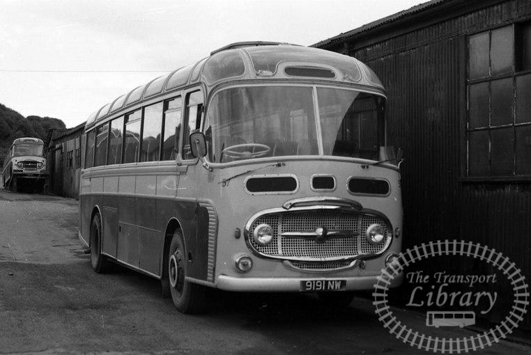 Saltburn Motor Services AEC Reliance 57 9191NW at Saltburn Area in 1960s on route Unknown - Neville Stead Collection