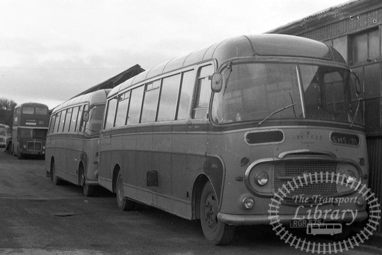 Saltburn Motor Services Bedford SB1 64 RGR575 at Saltburn Area in 1974 on route Unknown - Neville Stead Collection