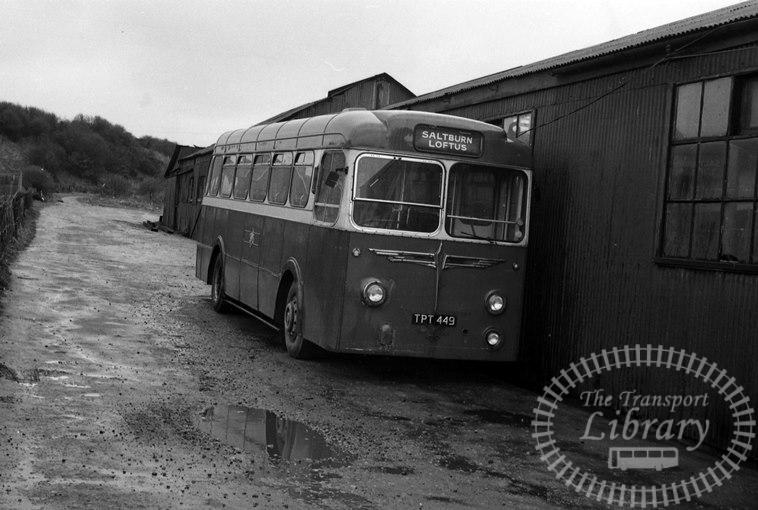 Saltburn Motor Services Leyland Tiger Cub 49 TPT449 at Saltburn Area in 1969 on route Unknown - Neville Stead Collection