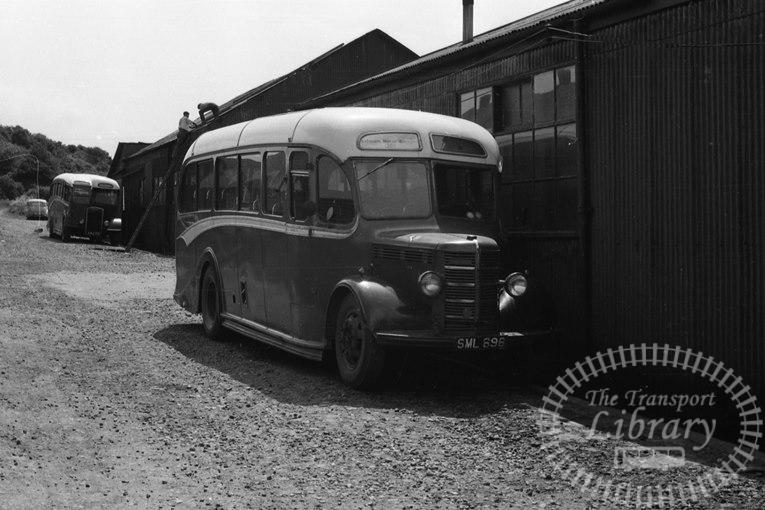 Saltburn Motor Services Bedford OB 16 SML696 at Saltburn Area in 1964 on route Unknown - Neville Stead Collection