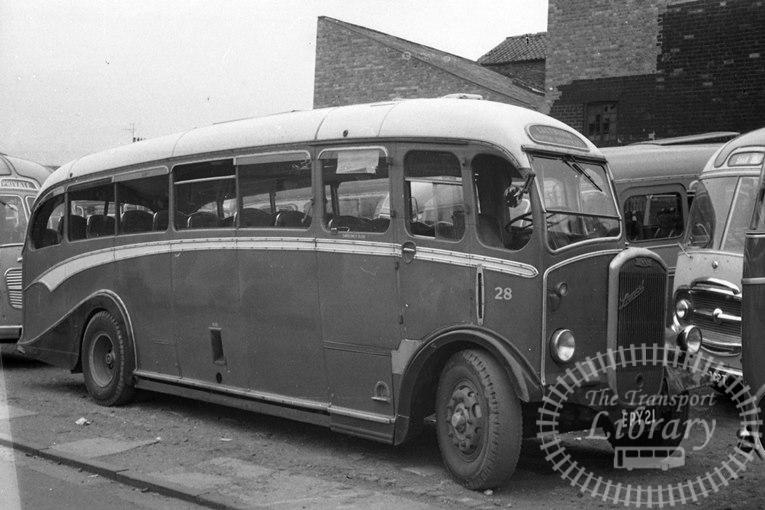 Saltburn Motor Services Dennis Lancet J3 21 EPY21 at Saltburn Area in 1969 on route Unknown - Neville Stead Collection