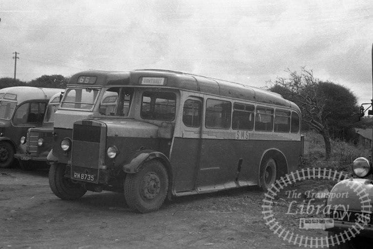 Saltburn Motor Services Leyland TS8 35 RN8735 at Saltburn Area in 1969 on route Unknown - Neville Stead Collection