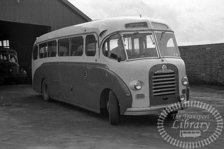 Saltburn Motor Services Bedford SB 18 HAJ417 at Saltburn Area in 1970 on route Unknown - Neville Stead Collection