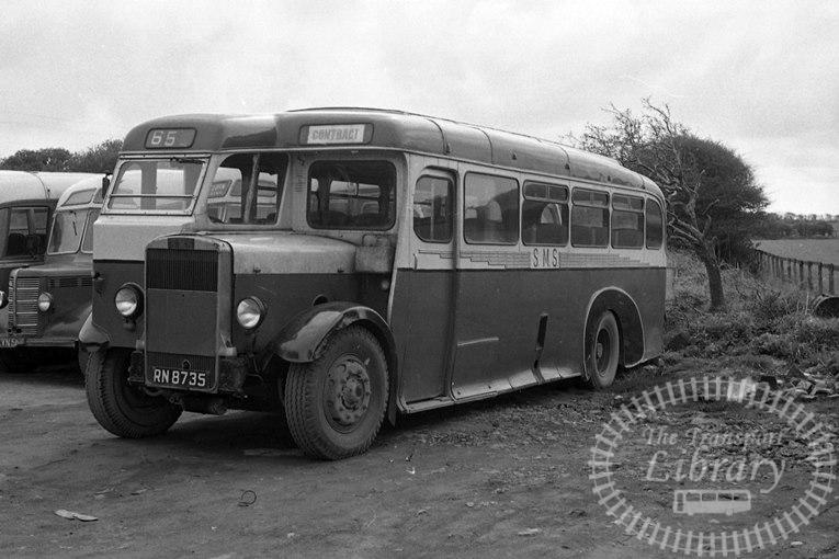 Saltburn Motor Services Leyland TS8 35 RN8735 at Saltburn Area in 1970 on route Unknown - Neville Stead Collection