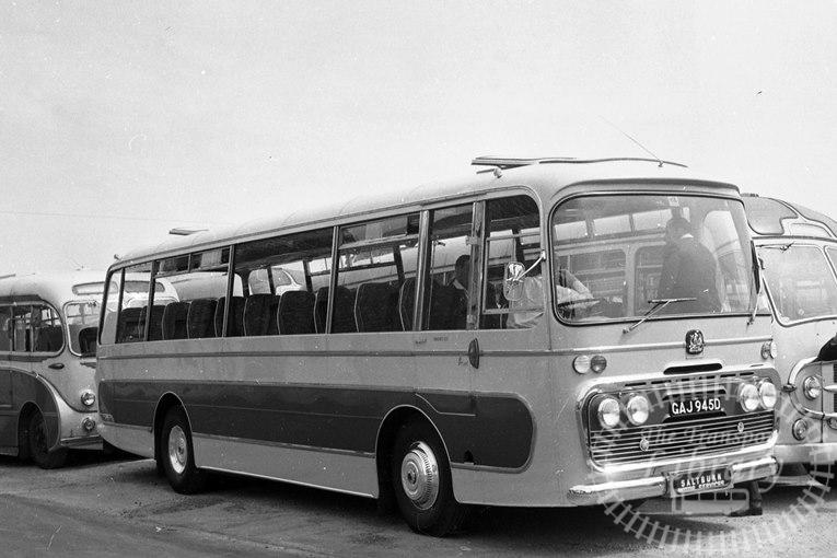 Saltburn Motor Services Bedford VAM5 50 GAJ945D at Saltburn Area in 1969 on route Unknown - Neville Stead Collection