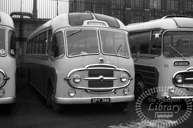 Saltburn Motor Services Bedford SB3 21 SPY386 at Saltburn Area in 1969 on route Unknown - Neville Stead Collection
