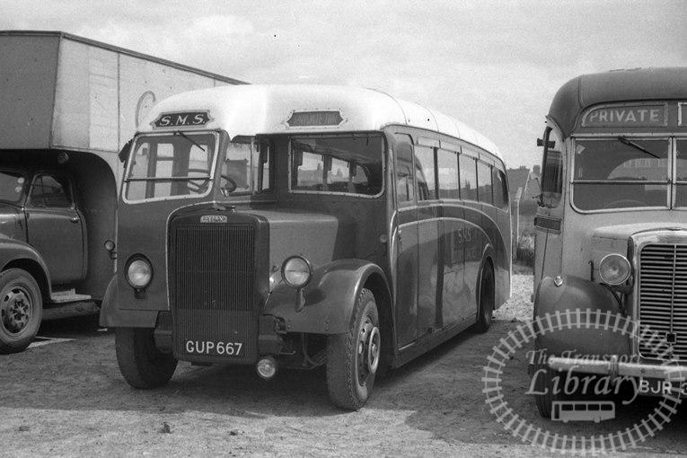 Saltburn Motor Services Leyland Single Decker GUP667 at Saltburn Area in 1969 on route Unknown - Neville Stead Collection