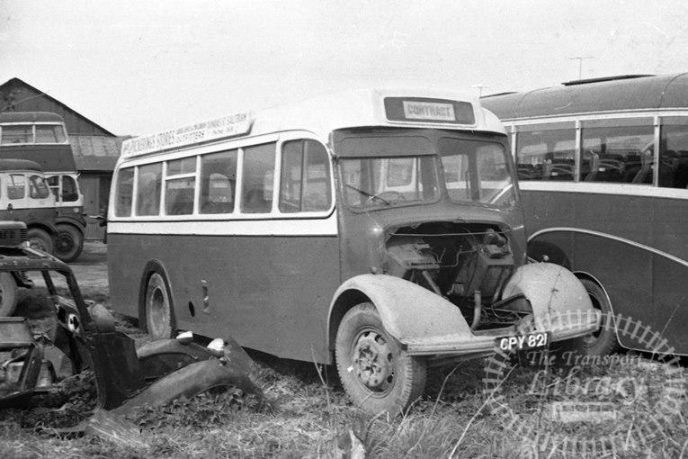 Saltburn Motor Services Bedford OB 3 CPY821 at Saltburn Area in 1969 on route Unknown - Neville Stead Collection