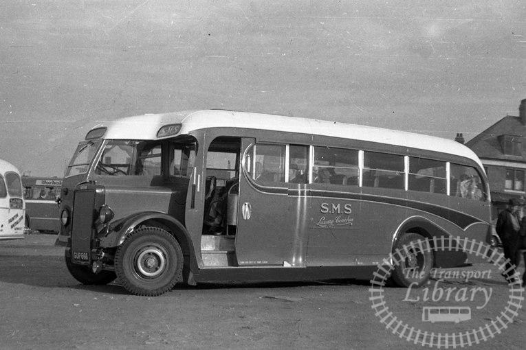 Saltburn Motor Services Leyland Single Decker GUP666 at Saltburn Area in 1969 on route Unknown - Neville Stead Collection
