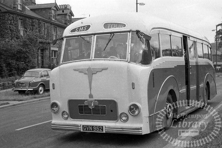Saltburn Motor Services Leyland Leopard 38 GVN952 at Saltburn Area in 1960s on route Unknown - Neville Stead Collection