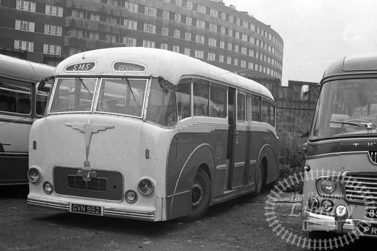 Saltburn Motor Services Leyland Leopard 38 GVN952 at Saltburn Area in 1969 on route Unknown - Neville Stead Collection