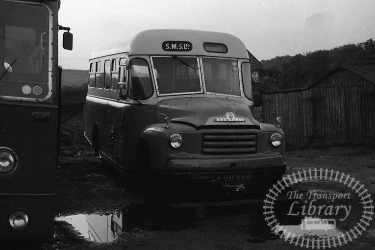 Saltburn Motor Services Bedford A3LZ 17 LVN588 at Saltburn Area in 1969 on route Unknown - Neville Stead Collection