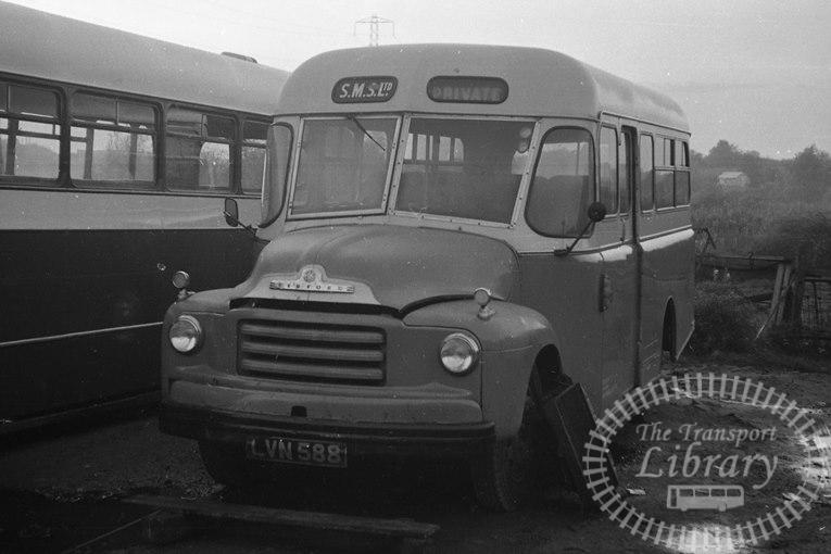 Saltburn Motor Services Bedford A3LZ 17 LVN588 at Saltburn Area in 1970 on route Unknown - Neville Stead Collection