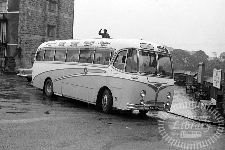 Saltburn Motor Services AEC Reliance MAJ429 at Saltburn Area in 1969 on route Unknown - Neville Stead Collection