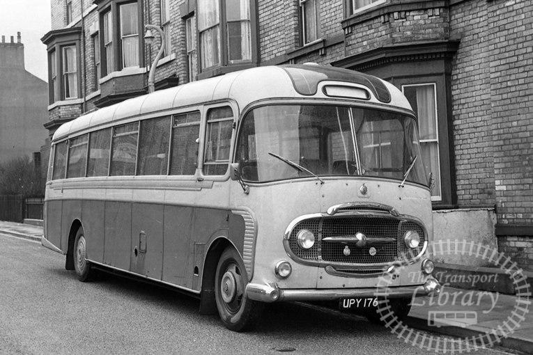 Saltburn Motor Services Bedford SB1 23 UPY176 at Saltburn Area in 1970 on route Unknown - Neville Stead Collection