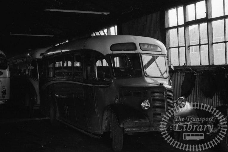 Saltburn Motor Services Bedford OB 12 FPY559 at Saltburn Area in 1960s on route Unknown - Neville Stead Collection