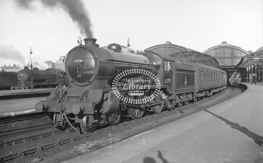 BR British Railways Steam Locomotive Class D49 62701  at Hull (Paragon) in Undated - Neville Stead Collection