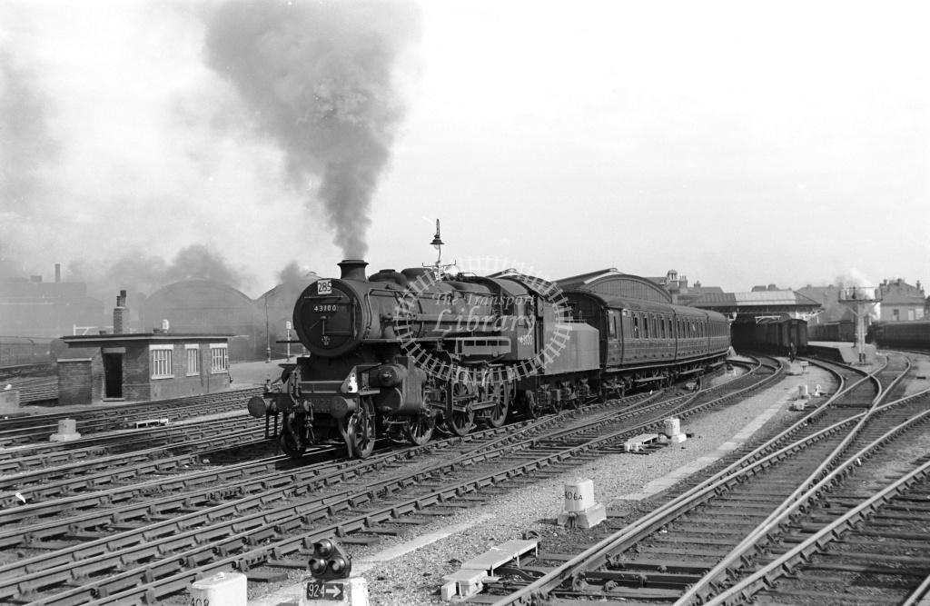 BR British Railways Steam Locomotive Class 4F-A 43100  at Hull (Paragon) in Undated - Neville Stead Collection