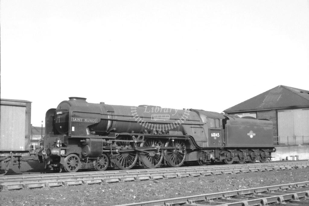BR British Railways Steam Locomotive Class A1 60145  at Hull (Dairycoates) in 1964 - Feb-64 - Neville Stead Collection