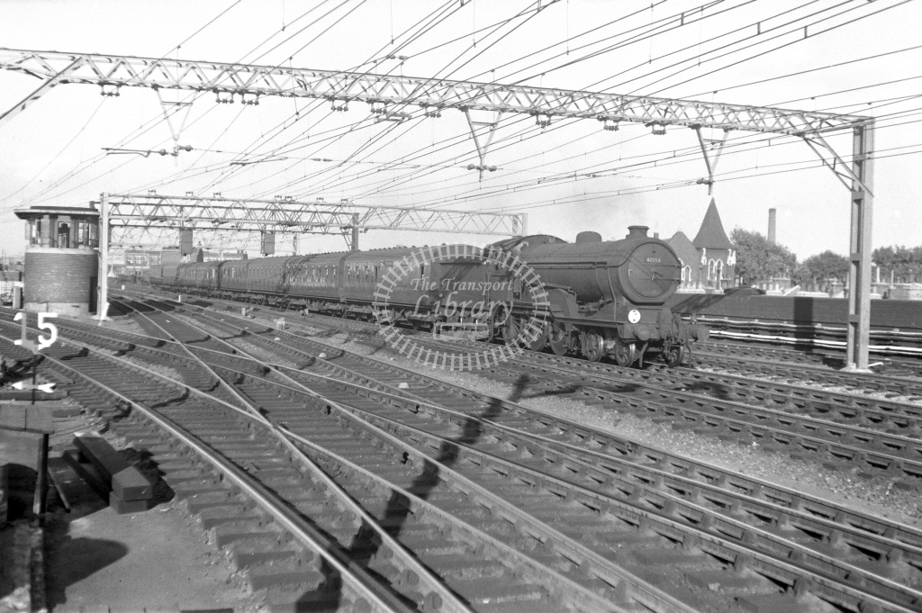 BR British Railways Steam Locomotive Class B12 61554  at Bethnal Green in 1949 - 21/06/1949 - Neville Stead Collection