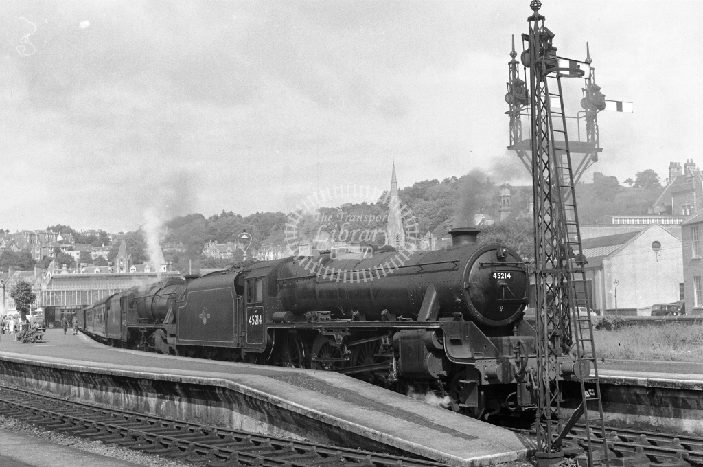 BR British Railways Steam Locomotive Class 5MT 45214, 44923  at Oban  in 1959 - 10/06/1959 - Neville Stead Collection