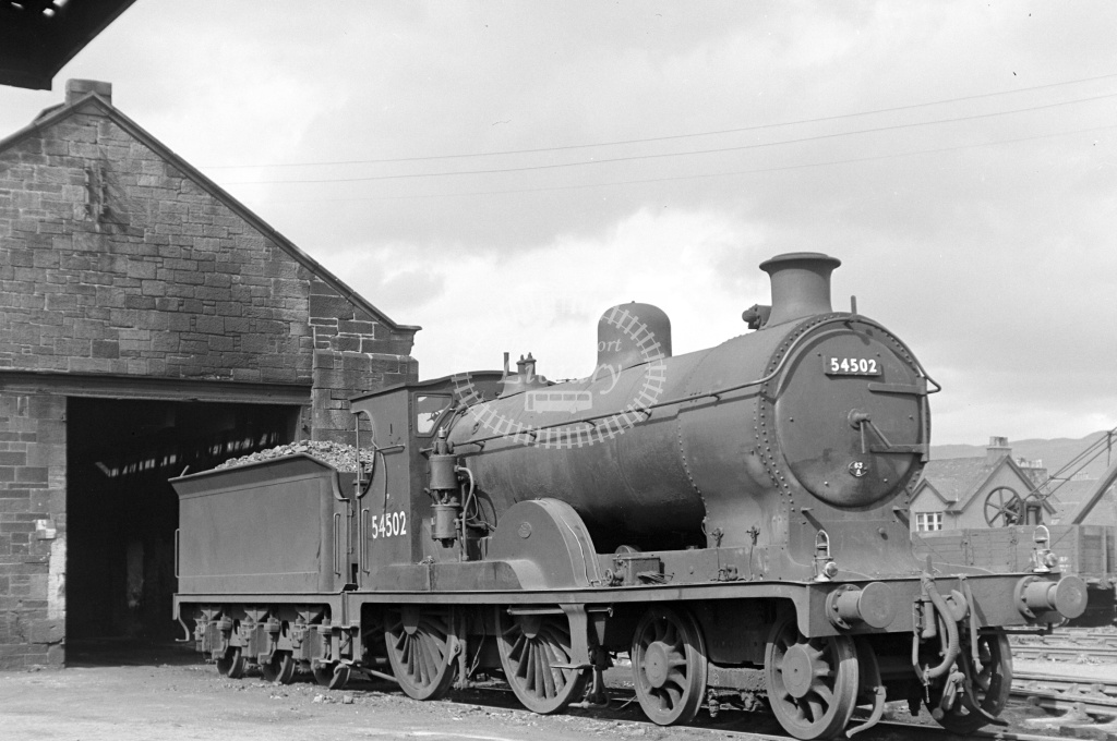 BR British Railways Steam Locomotive Class 3P 54502  at Stirling     in 1953 - 16/05/1953 - Neville Stead Collection