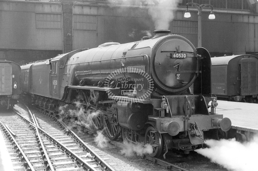 BR British Railways Steam Locomotive Class A2 60530  at Kings Cross in 1962 - 01/05/1962 - Neville Stead Collection