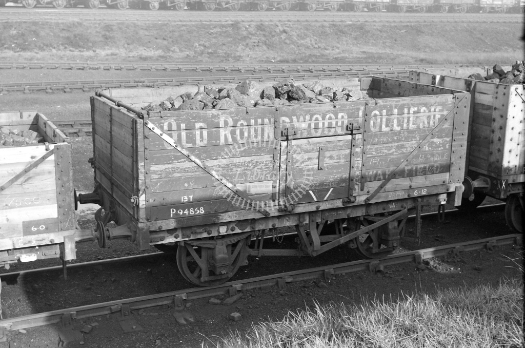 BR British Railways Wagon Van  at March shed in 1959 - 27/03/1959 - Neville Stead Collection