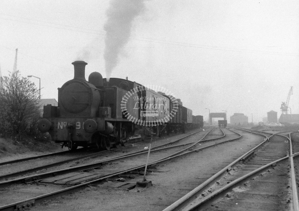 PLA Industrial Steam Locomotive Class 0-6-0Toc 91/HC 1874/54  at Millwall Docks in Undated - Neville Stead Collection