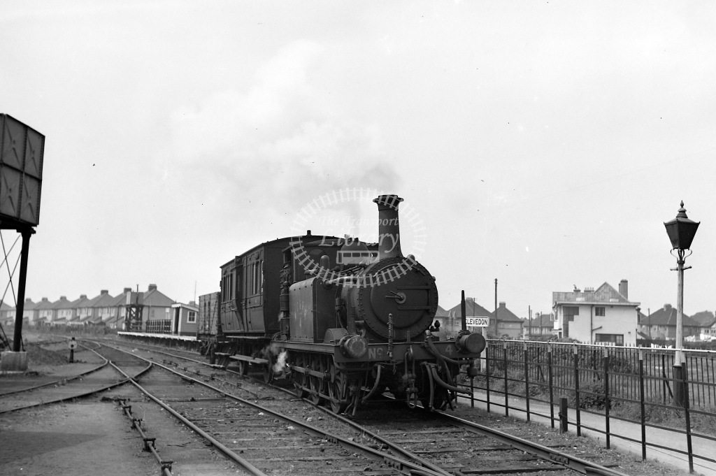 Weston Clevedon and Portishead Railway Steam Locomotive Class Ex Stroudley Terrier No. 2653 No. 4  at Clevedon in 1940 - 13/05/1940 - Neville Stead Collection